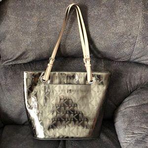 Michael kors metallic gold bag